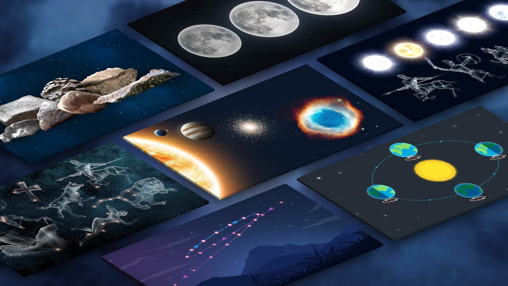 Space Infographics: Astronomical Phenomena in Pictures