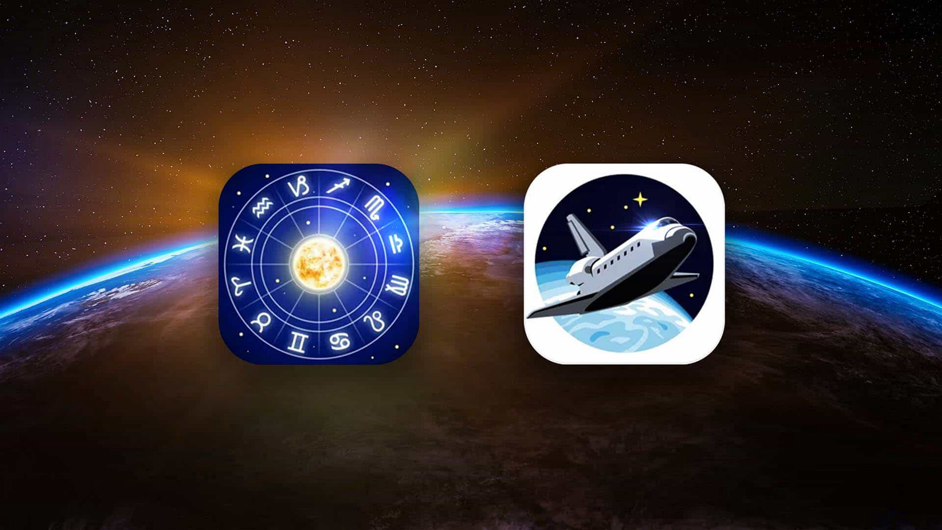 Zodiac Constellations ans Space Museum Icons